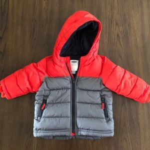Toddler Boy's Old Navy Winter Hooded Puffer Jacket